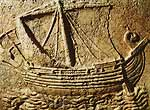 Phoenician ship in bas-relief